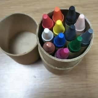 未使用 紙筒入りクレヨン12色(クレヨン/パステル)