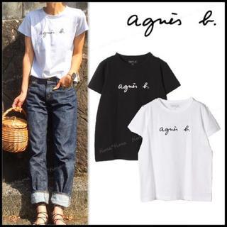 agnes b. - agnes b.アニエスベー新品ロゴ半袖Tシャツ☆ホワイト☆2
