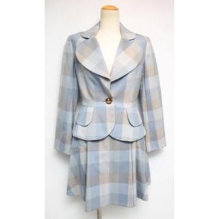 ヴィヴィアンウエストウッド(Vivienne Westwood)のヴィヴィアンウエストウッド チェック スーツ ラブジャケット 美品 サイズ1(スーツ)