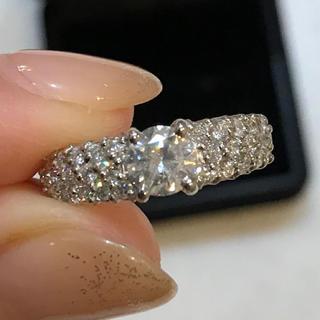 天然ダイヤモンド0.983カラットプラチナダイヤモンドリング❤️