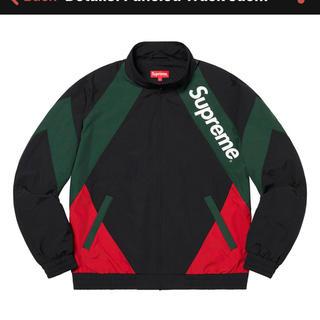 Supreme - Supreme Paneled Track Jacket 黒赤 Mサイズ