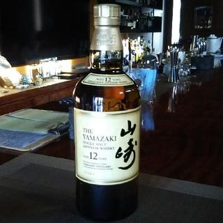 サントリー(サントリー)の山崎 12年 マイレージ倶楽部 シール 有り(ウイスキー)