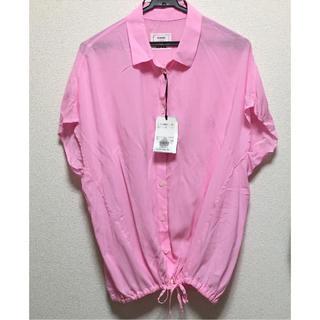 プラステ(PLST)の新品タグ付き!PLST ピンクシャツ(シャツ/ブラウス(半袖/袖なし))