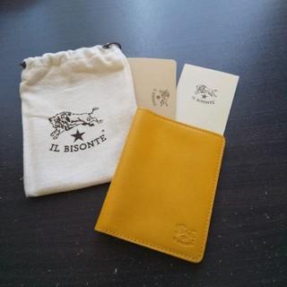 IL BISONTE - 新品 イルビゾンテ 本革 レザー カード 定期入れ パスケース イエロー