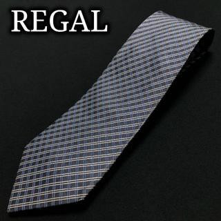 リーガル(REGAL)のリーガル チェック ネイビー&ブルー ネクタイ A103-E02(ネクタイ)