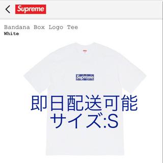 シュプリーム(Supreme)のSupreme Bandana Box Logo Tee White S(Tシャツ/カットソー(半袖/袖なし))