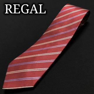 リーガル(REGAL)のリーガル レジメンタル ワインレッド ネクタイ A103-E05(ネクタイ)