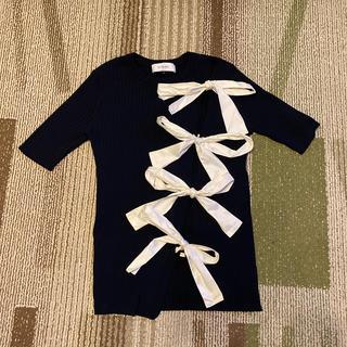 ルシェルブルー(LE CIEL BLEU)のLE CIEL BLUE*レースアップ(カットソー(半袖/袖なし))