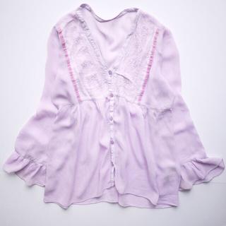 BEAMS - 春色◎お袖フリルが可愛い♡フロントボタンチュニック♡フォロ割-¥200