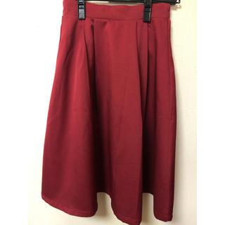 プリーツスカート(ひざ丈スカート)