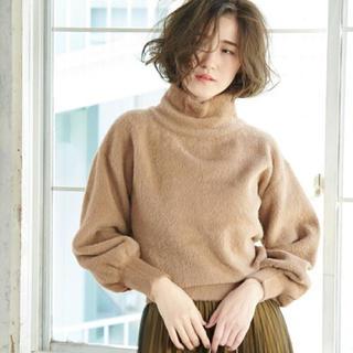 Rope' Picnic - ロペピクニック♡ フェザーヤーンモックネックニット