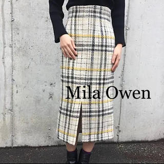 Mila Owen - ☆Mila Owen☆ミラオーウェン  チェックツイードタイトスカート