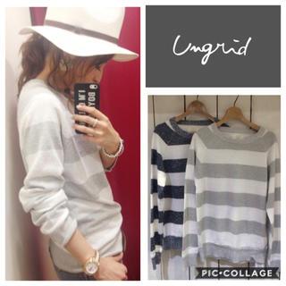 Ungrid - Ungrid**ミニループボーダーニット