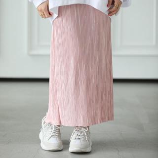 mite プリーツ ストレート スカート ピンク