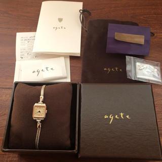 アガット(agete)のアガット    腕時計  販売証明書付き  予備コマあり(腕時計)