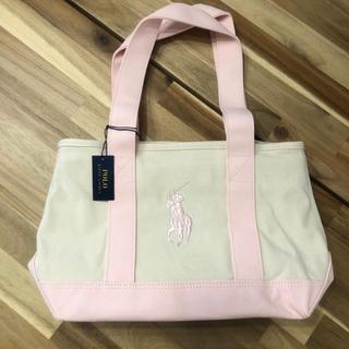 POLO RALPH LAUREN - 新品 ポロラルフローレン スクール トートバッグ チャック付き ピンク