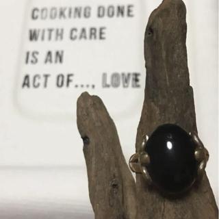 ブラックオニキスシルバーリング 14号(リング(指輪))