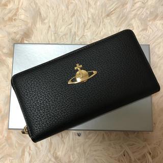 Vivienne Westwood - ヴィヴィアンウエストウッド 小銭入れ 長財布 ブラック レザー
