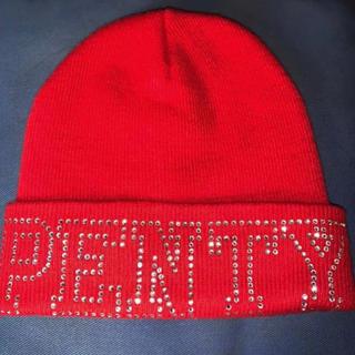 アベイシングエイプ(A BATHING APE)のニット帽 PENTY swarovski ライトストーン ダイヤ(ニット帽/ビーニー)