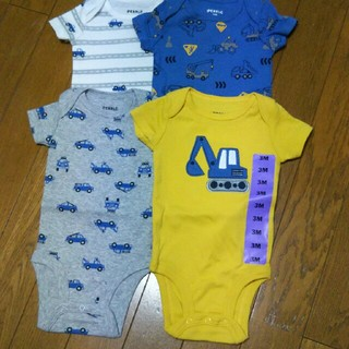 コストコ(コストコ)の男の子ロンパース(3ヶ月)新品(ロンパース)
