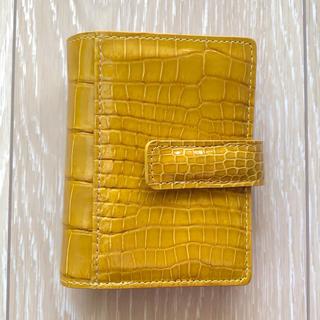 ハマノヒカクコウゲイ(濱野皮革工藝/HAMANO)の濱野財布(山吹色)  確認用写真(財布)