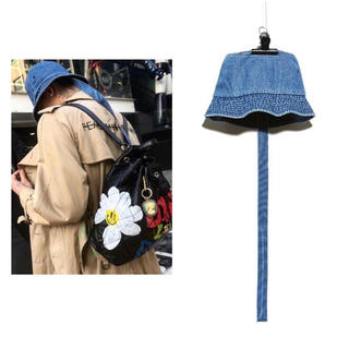ピースマイナスワン(PEACEMINUSONE)のPMO DENIM BUCKET HAT #1 BLUE(ハット)