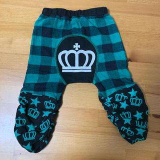 ベビードール(BABYDOLL)のベビードール   モンキーパンツ 70 チェック柄 ズボン 緑 グリーン(パンツ)