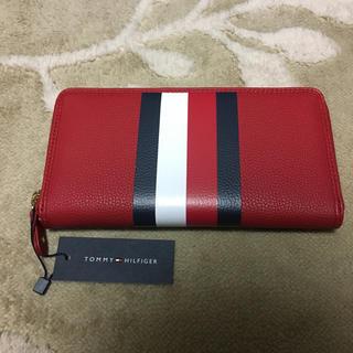 トミーヒルフィガー(TOMMY HILFIGER)の新品 トミーヒルフィガー トリコロール 長財布 赤 レッド(財布)