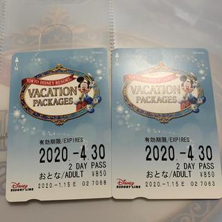 ディズニー(Disney)のディズニー リゾートライン フリー切符 2枚(鉄道乗車券)