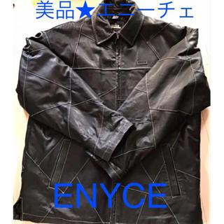 エニーチェ(ENYCE)の美品 ENYCE エニーチェ 古着 レザージャケット ブラック(レザージャケット)