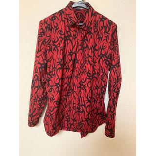 ディオールオム(DIOR HOMME)のDior homme トライバルシャツ サイズ37 赤(シャツ)