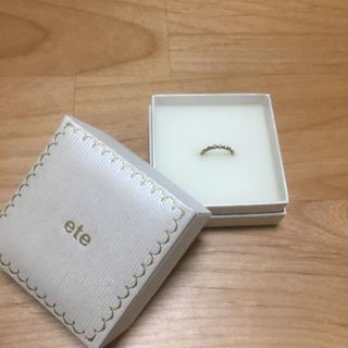 エテ(ete)のete ピンキーリング/K10 ダイヤモンド ピンキーリング(リング(指輪))