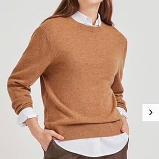 ユニクロ(UNIQLO)のUNIQLO カシミヤ100% カシミヤクルーネックセーター(ニット/セーター)