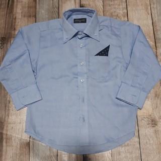 男児シャツ ポケットチーフ付き(100)