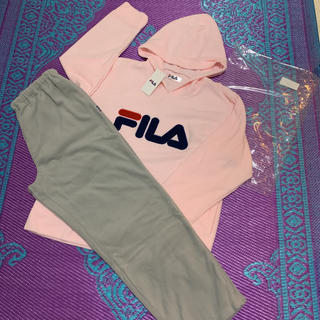 フィラ(FILA)の【新品】フィラ FILA レディース 厚手 ふわ可愛いフリース 上下セット LL(ルームウェア)