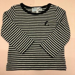 アニエスベー(agnes b.)の美品アニエスベー アンファンボーダーロンティ2ans 90cm(Tシャツ/カットソー)