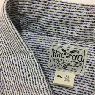 ダブルアールエル(RRL)のサイズM RRL オックスフォード シャツ BDシャツ ストライプ(シャツ)