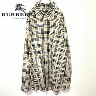 BURBERRY - 【希少】Burberry LONDON ノバチェック シャツ ホース刺繍