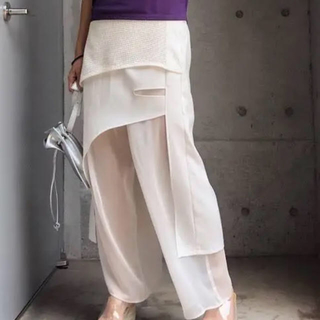 Ameri VINTAGE - 新品未使用 MEDI ROUGH CLOTH LAYERED PANTS