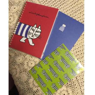 リサラーソン(Lisa Larson)のリサラーソン3点セット  新品(ノート/メモ帳/ふせん)