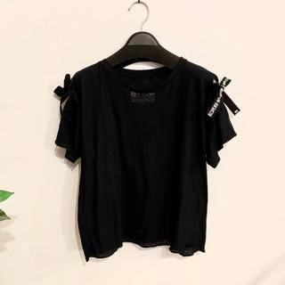 MM6 - MM6 半袖 Tシャツ カットソー ブラック リボン