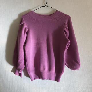 ヴィス(ViS)のピンクのボリューム袖ニット(ニット/セーター)