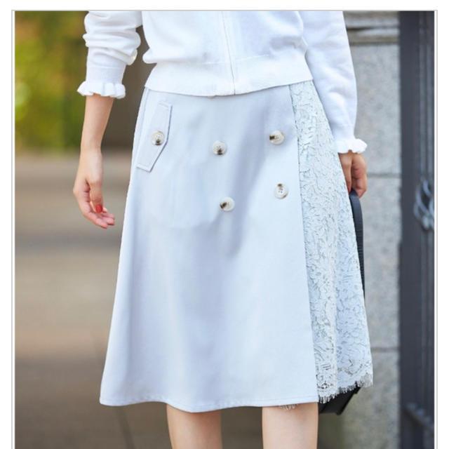 tocco(トッコ)のセール tocco 切り替えプリーツスカート レディースのスカート(ひざ丈スカート)の商品写真