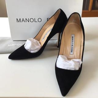 MANOLO BLAHNIK - マノロブラニク 34 bbパンプス ブラック