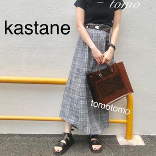 Kastane - 新品❁カスタネ アシメチェックスカート