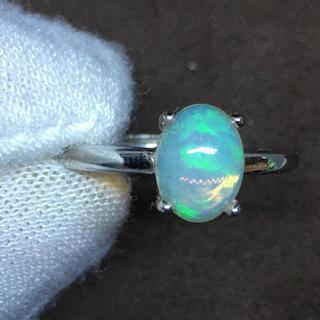 オパールリング シルバーリング 天然石指輪 パワーストーン  宝石リング(リング(指輪))