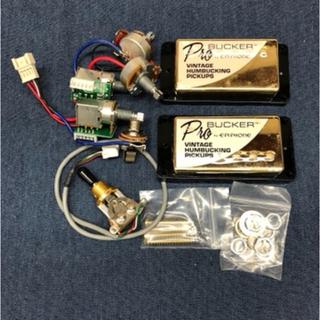 エピフォン(Epiphone)のEpiphone ProBucker 2&3 ゴールド 配線済みアッセンブリー(エレキギター)
