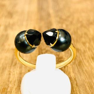 タサキ(TASAKI)の極上!TASAKI 田崎真珠 リファインド リベリオン ブラック GR1629(リング(指輪))
