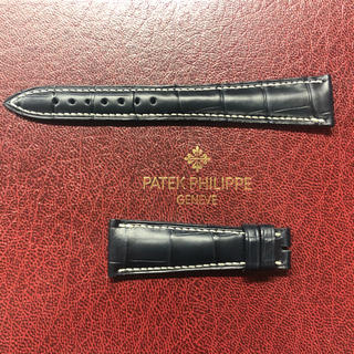 パテックフィリップ(PATEK PHILIPPE)のJCペラン クロコダイル パテックフィリップ専用Dバックル用革ベルト(レザーベルト)