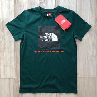 THE NORTH FACE - 【海外限定】TNF ノースフェイス ボックスロゴ Tシャツ グリーン 160